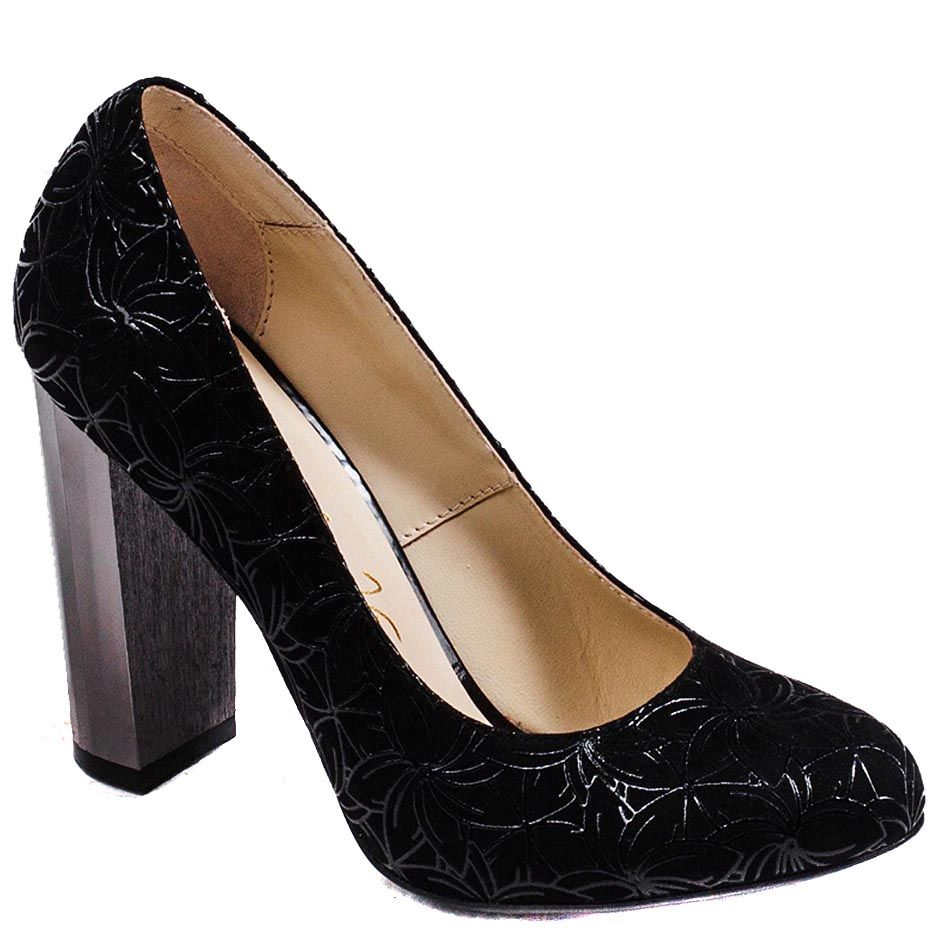 Туфли Modus Vivendi на высоком каблуке из натуральной кожи с лазерной обработкой