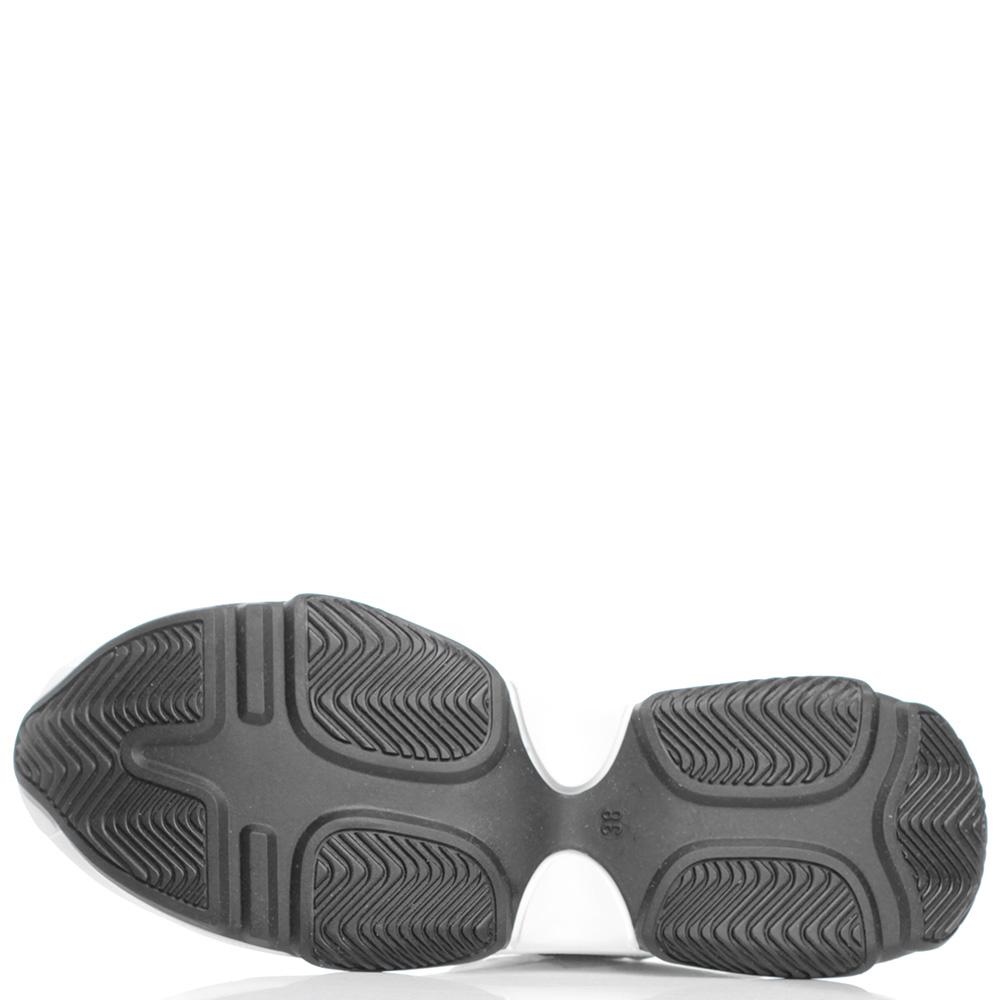 Белые кроссовки Baldinini на рельефной подошве