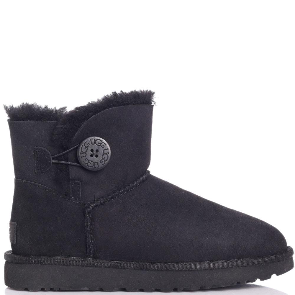 Замшевые ботинки Ugg черного цвета