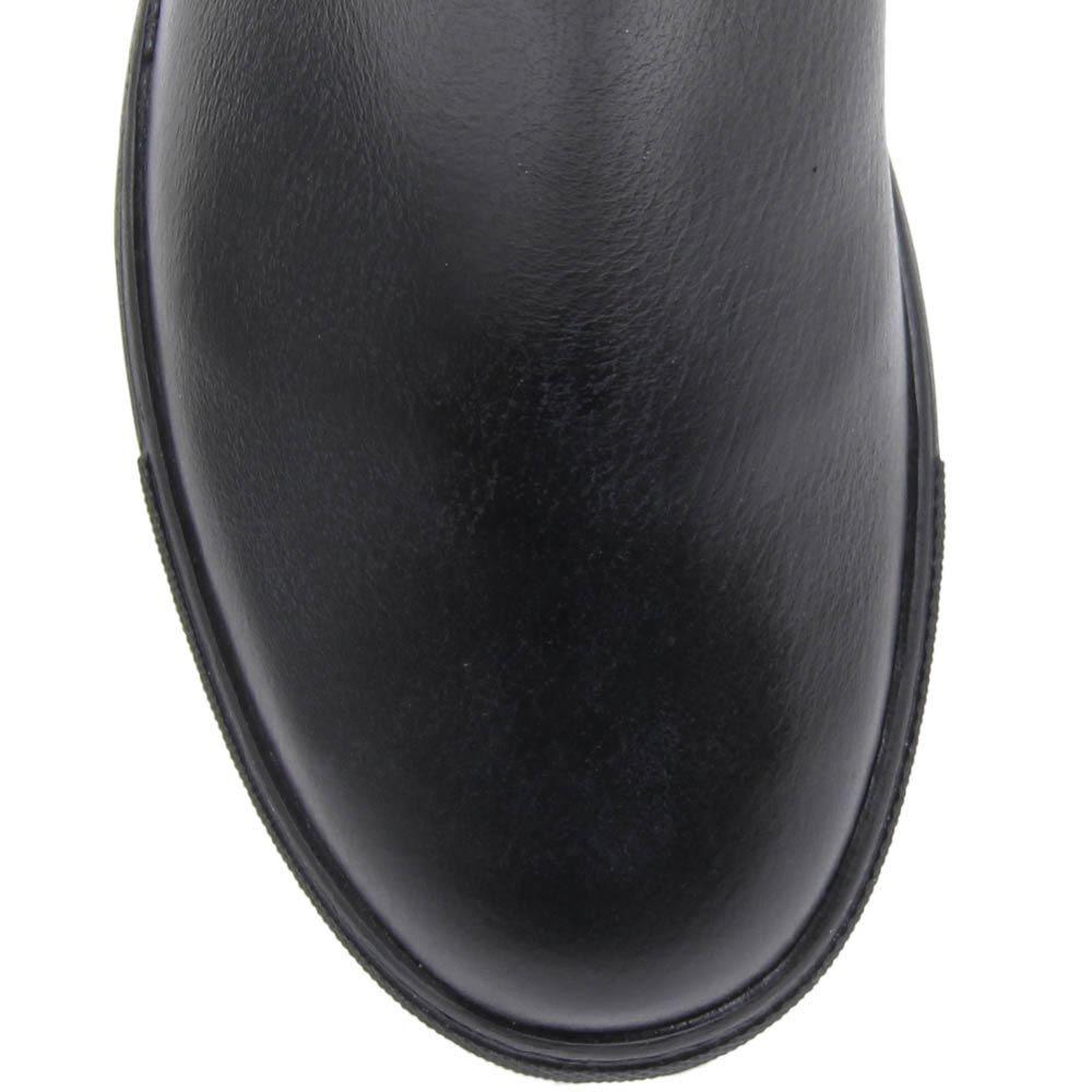 Сапоги Richmond из кожи черного цвета украшены узором в виде британского флага из страз