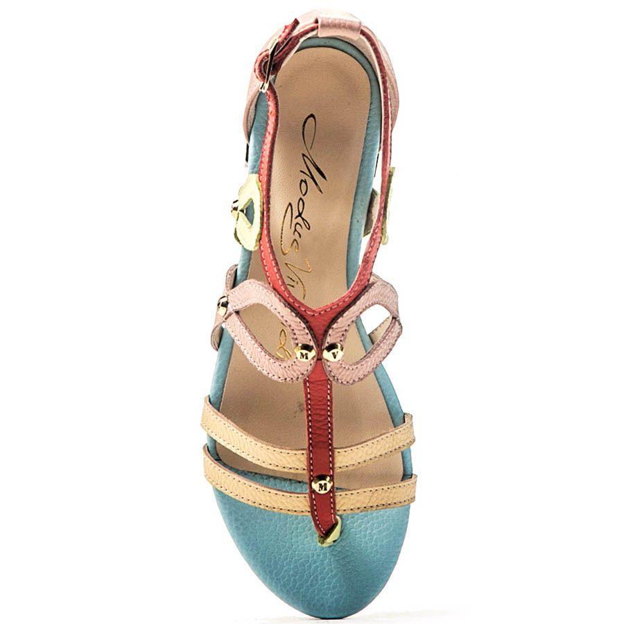 Сандалии Modus Vivendi в пастельных цветах и плетением в виде петель