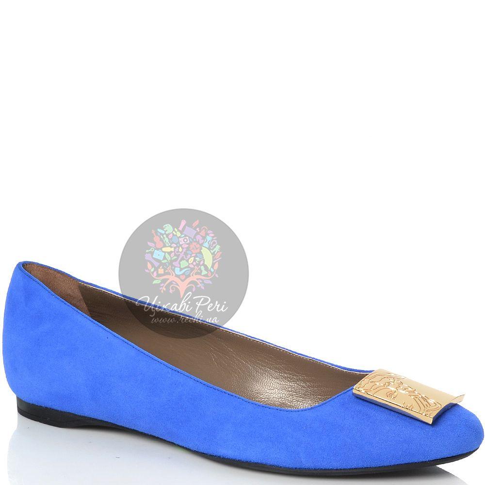 Балетки Versace Collection замшевые ярко-синие