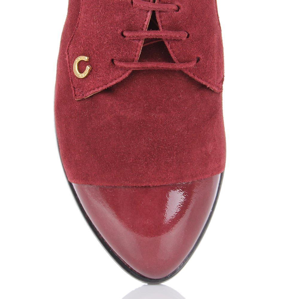 Женские туфли Pakerson из натуральной замши бордового цвета