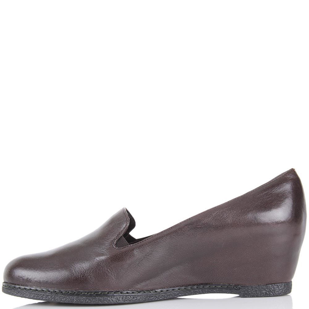 Женские туфли Pakerson коричневого цвета на термоутеплителе