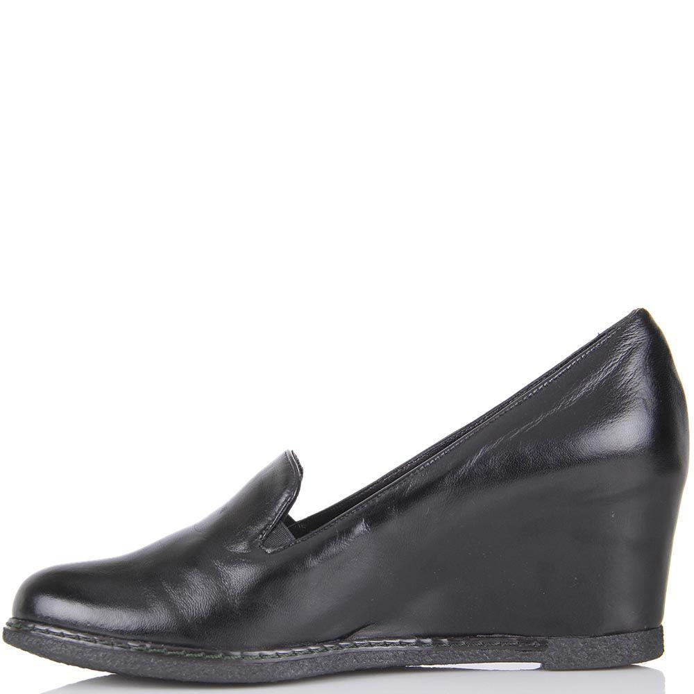 Туфли Pakerson из натуральной кожи черного цвета на термоутеплителе