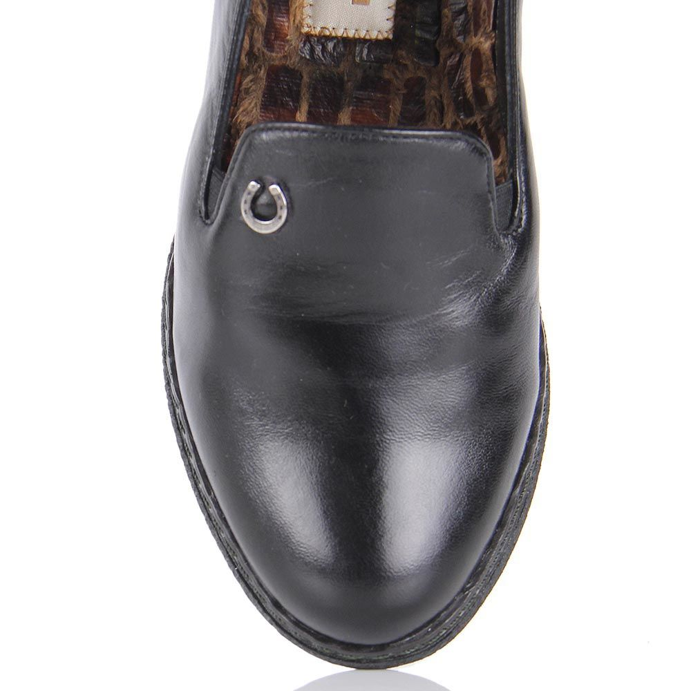 Туфли Pakerson из кожи черного цвета на термоутеплителе