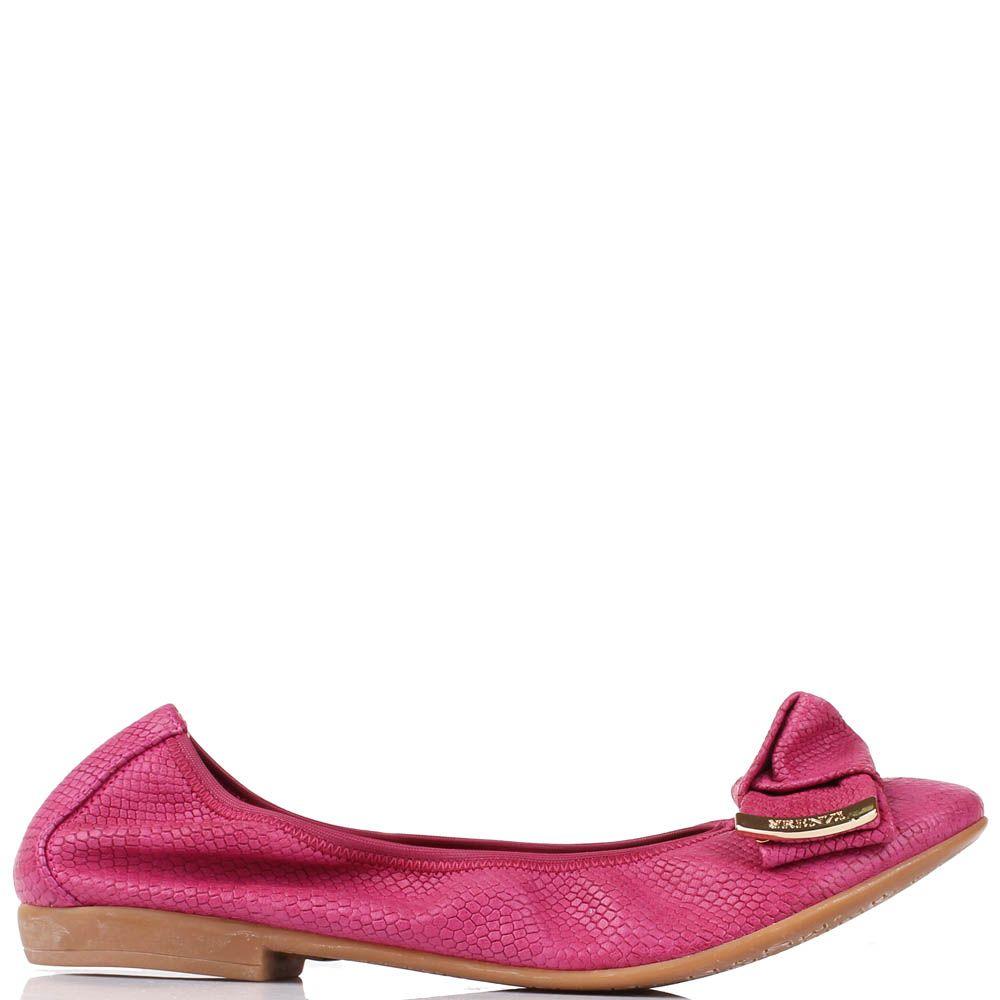 Балетки Renzi из замши дымчато-розового цвета