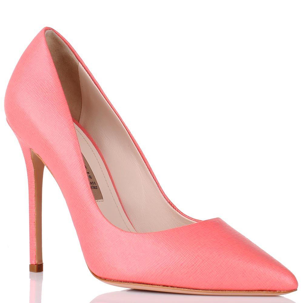 Туфли-лодочки Renzi розового цвета на высокой шпильке