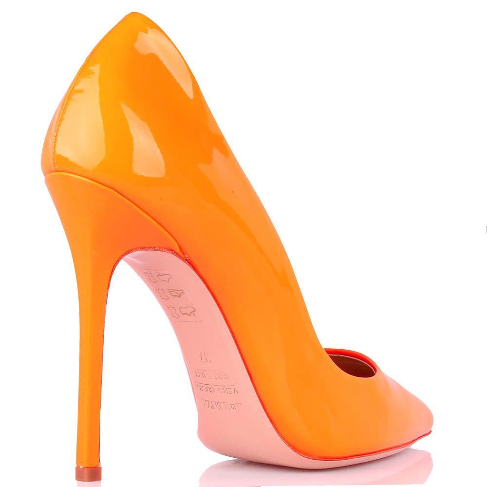 Туфли-лодочки Renzi из лаковой кожи оранжевого цвета