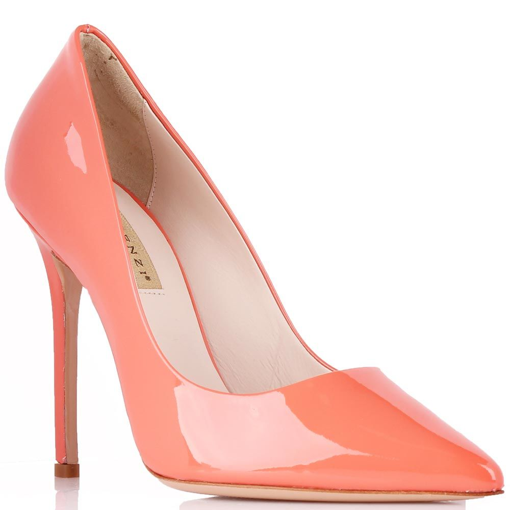 Туфли-лодочки Renzi из лаковой кожи розово-персикового цвета