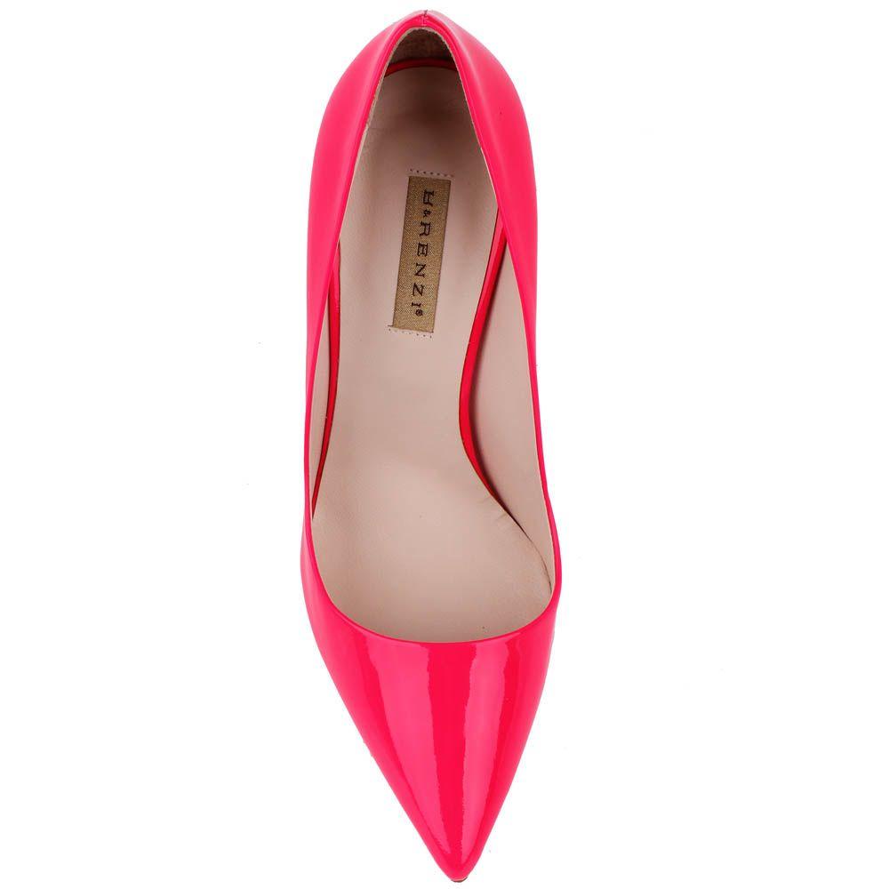 Туфли-лодочки Renzi из кожи малиново-красного цвета на высокой шпильке