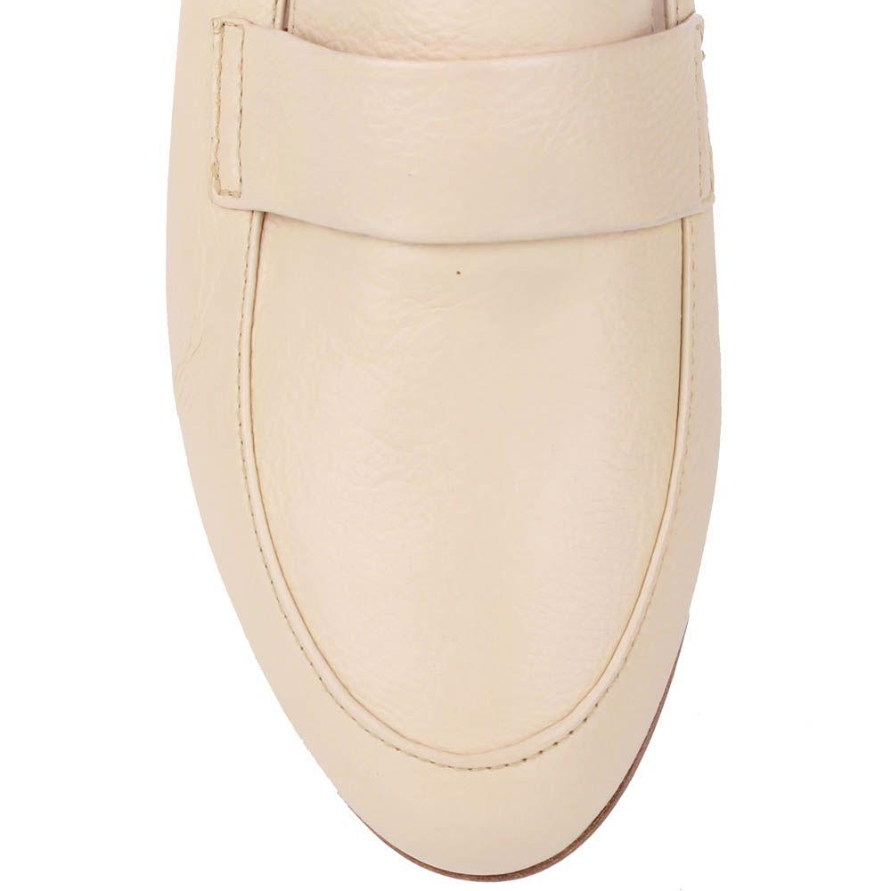 Туфли-лоферы Renzi из натуральной кожи бежево-молочного цвета