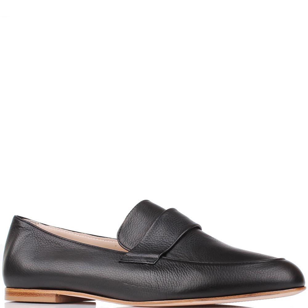 Туфли-лоферы Renzi из натуральной кожи черного цвета