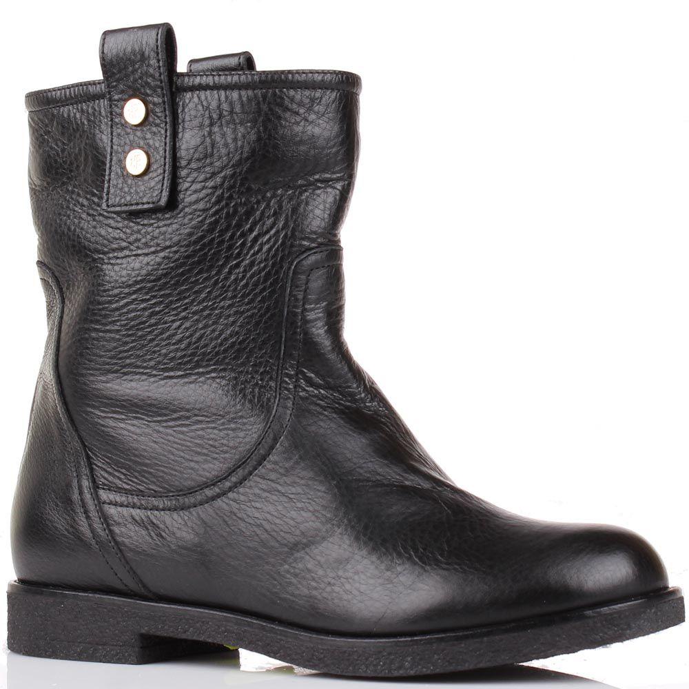 Зимние ботинки Renzi из кожи черного цвета