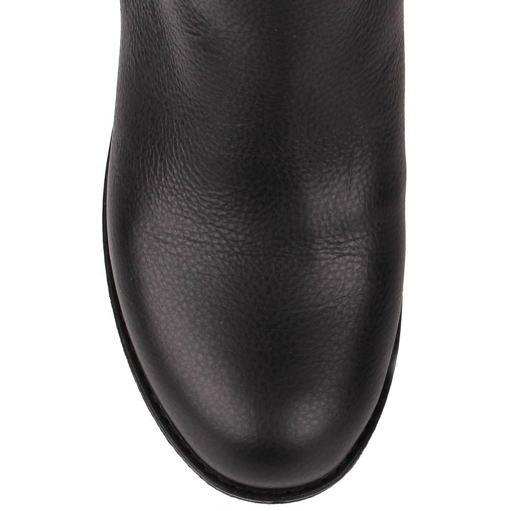 Сапоги Renzi из зернистой кожи черного цвета