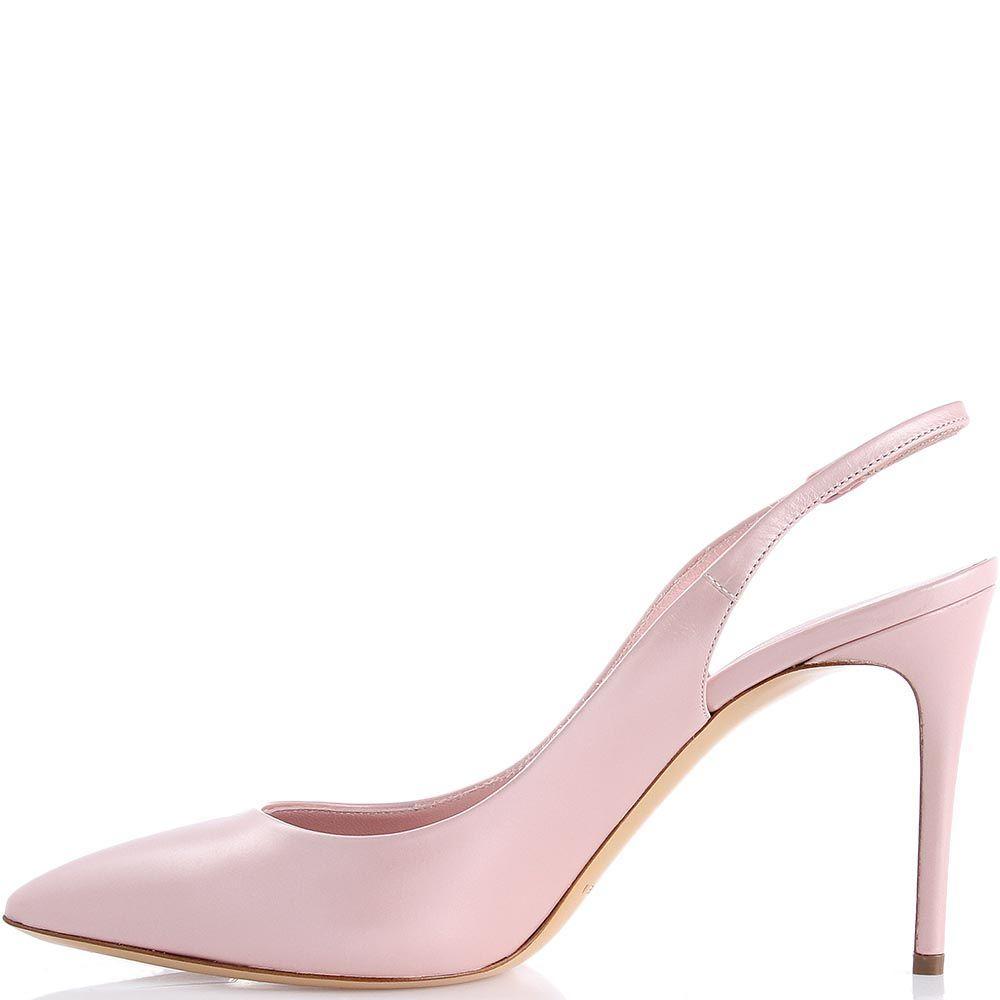 Босоножки Casadei розового цвета с перламутровым блеском