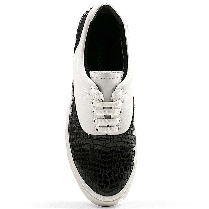 Женские кеды Modus Vivendi черно-белые кожаные