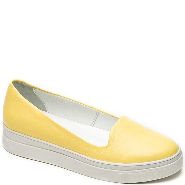 Женские слиперы Modus Vivendi желтого цвета на белой подошве
