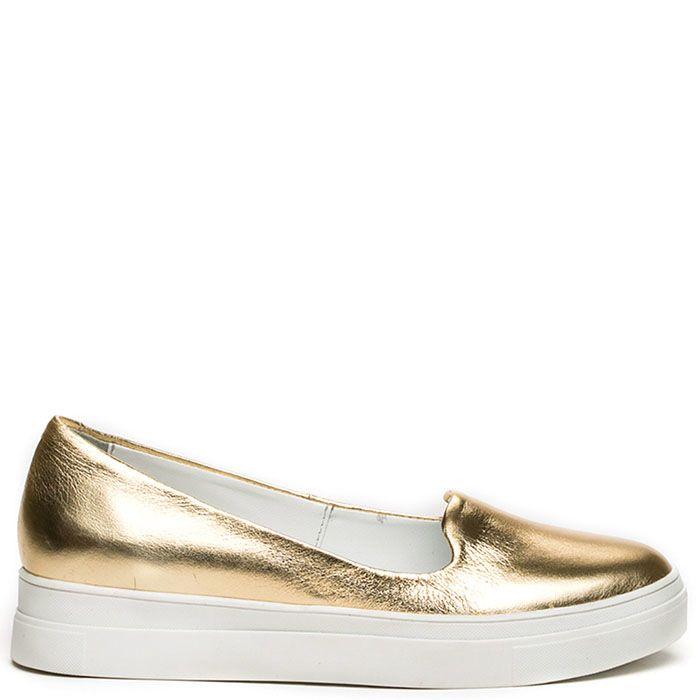 Женские слиперы Modus Vivendi золотого цвета на белой подошве