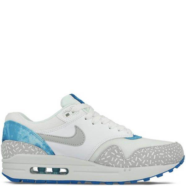 Кроссовки Nike Air Max Print белого цвета с голубыми вставками