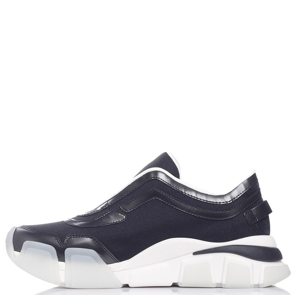 Черные кроссовки Salvatore Ferragamo на рельефной подошве