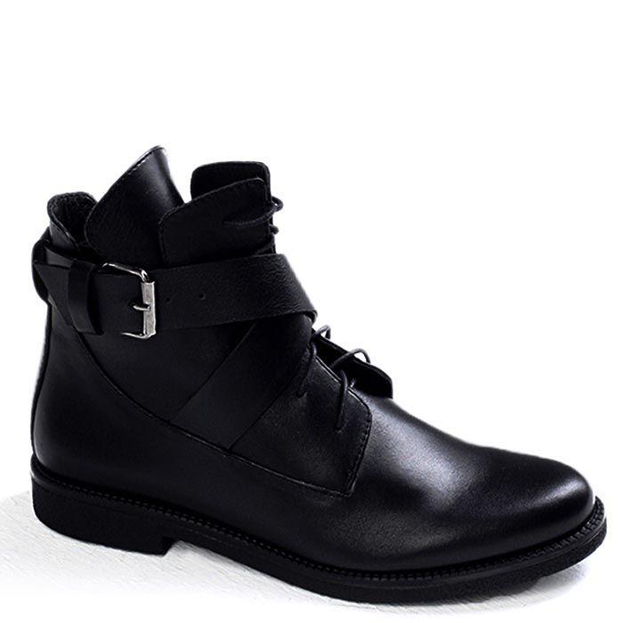 Женские ботинки Modus Vivendi черного цвета на низком ходу