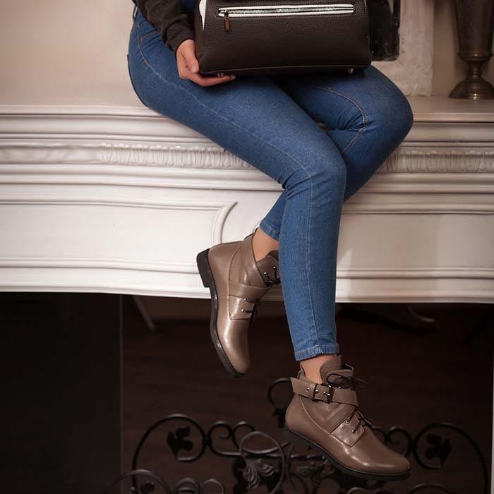 Демисезонные ботинки Modus Vivendi из натуральной кожи коричневого цвета