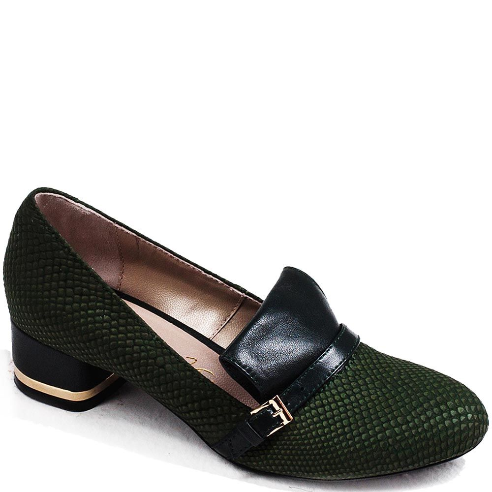Лоферы Modus Vivendi из натуральной кожи приглушенно-зеленого цвета