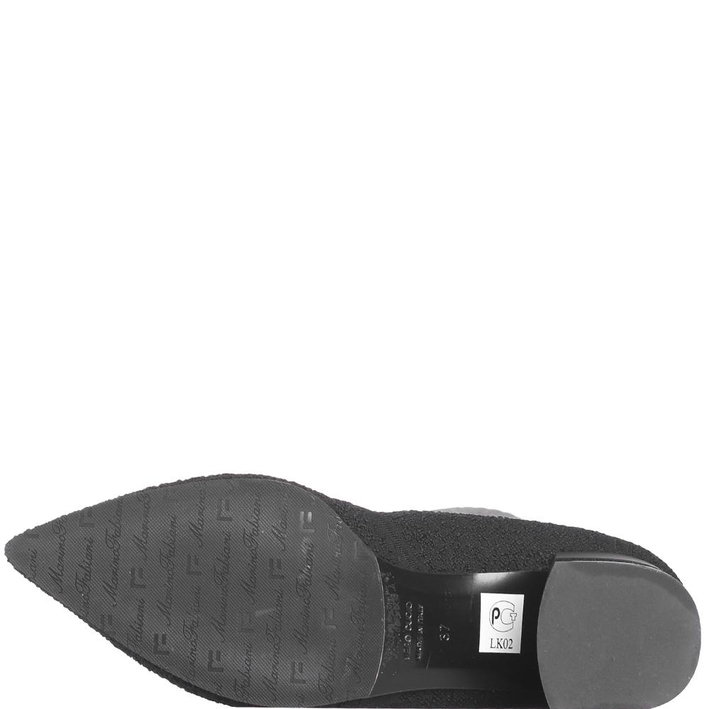 Черные ботфорты Marino Fabiani с острым носком
