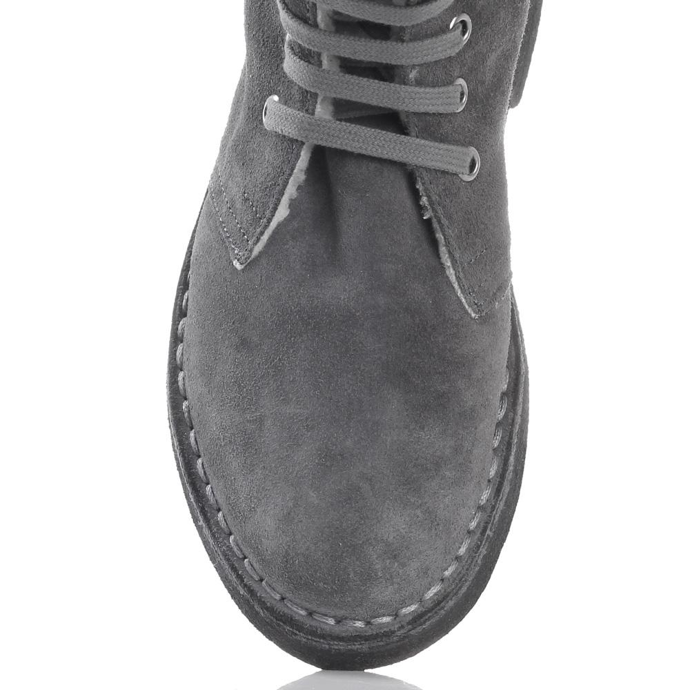 Зимние замшевые ботинки Gianni Famoso серого цвета