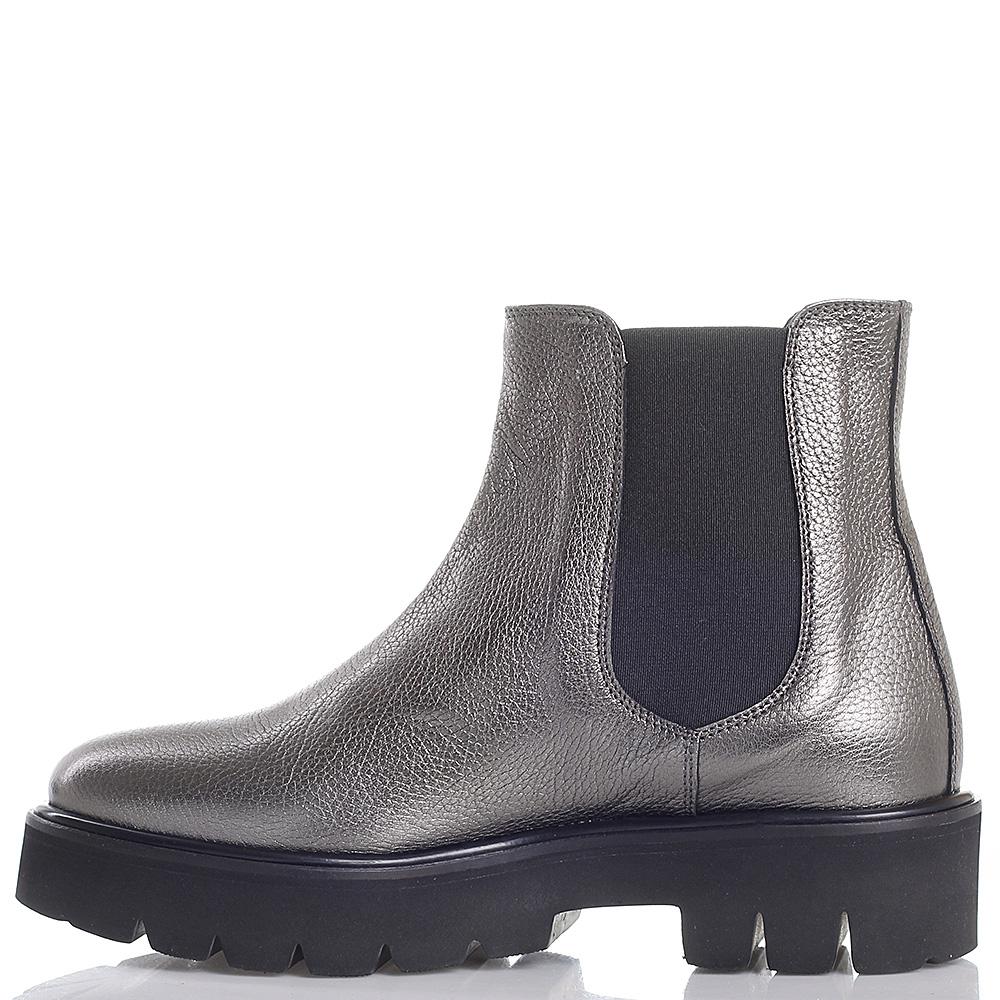Ботинки-челси Camerlengo серебристого цвета на толстой подошве