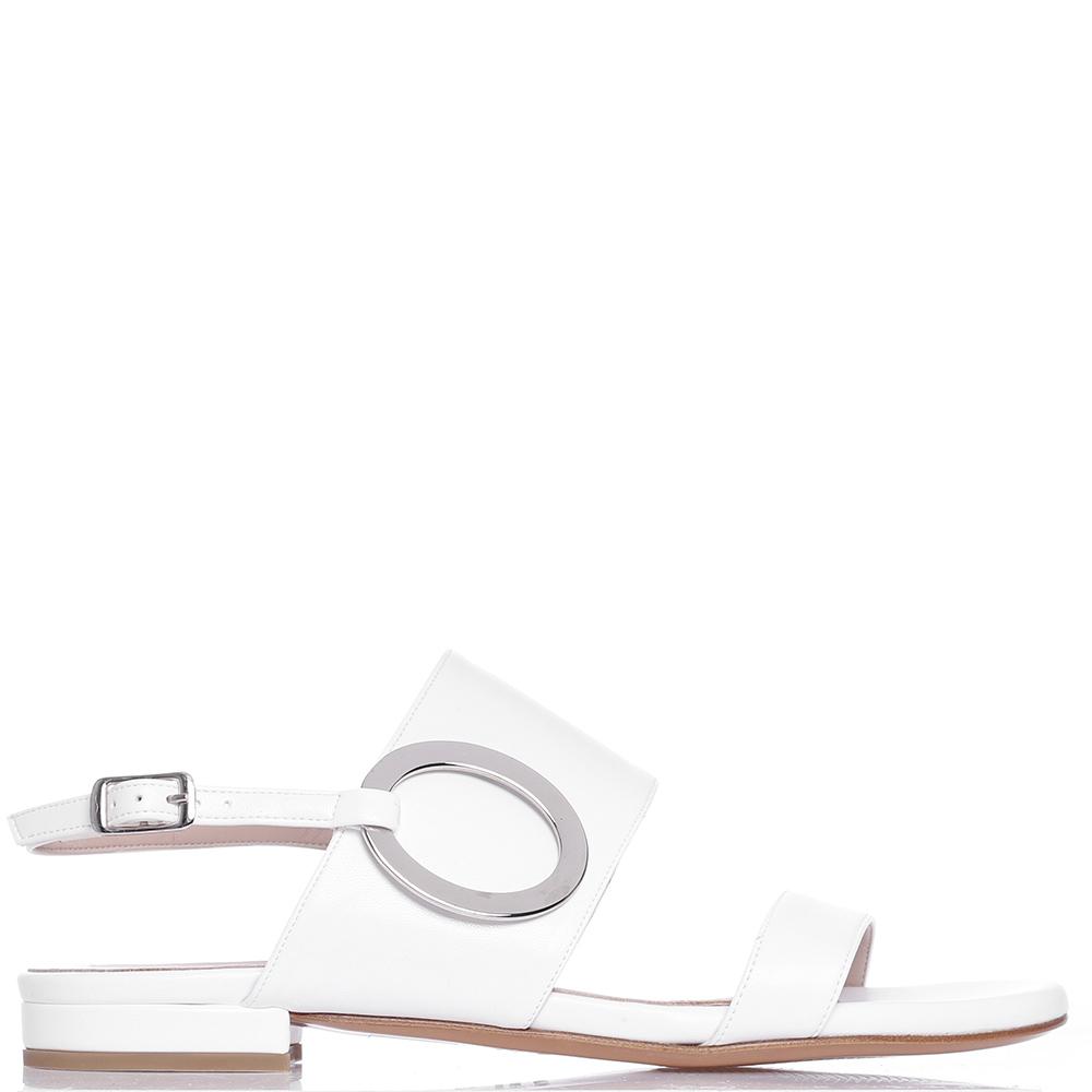 Сандалии Albano белого цвета