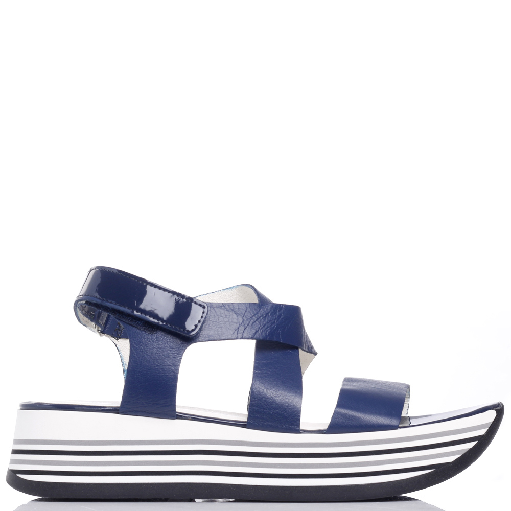 Синие сандалии Tine's на липучке
