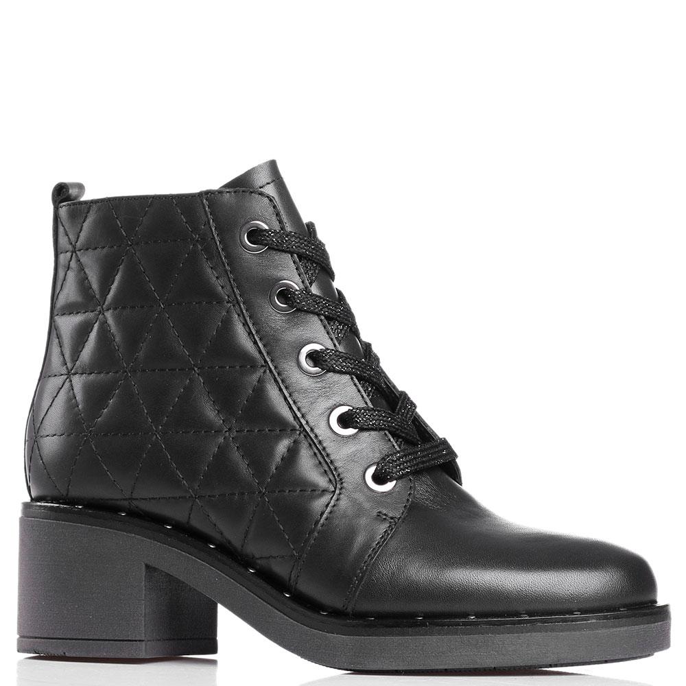 Стеганные ботинки Tine's черного цвета