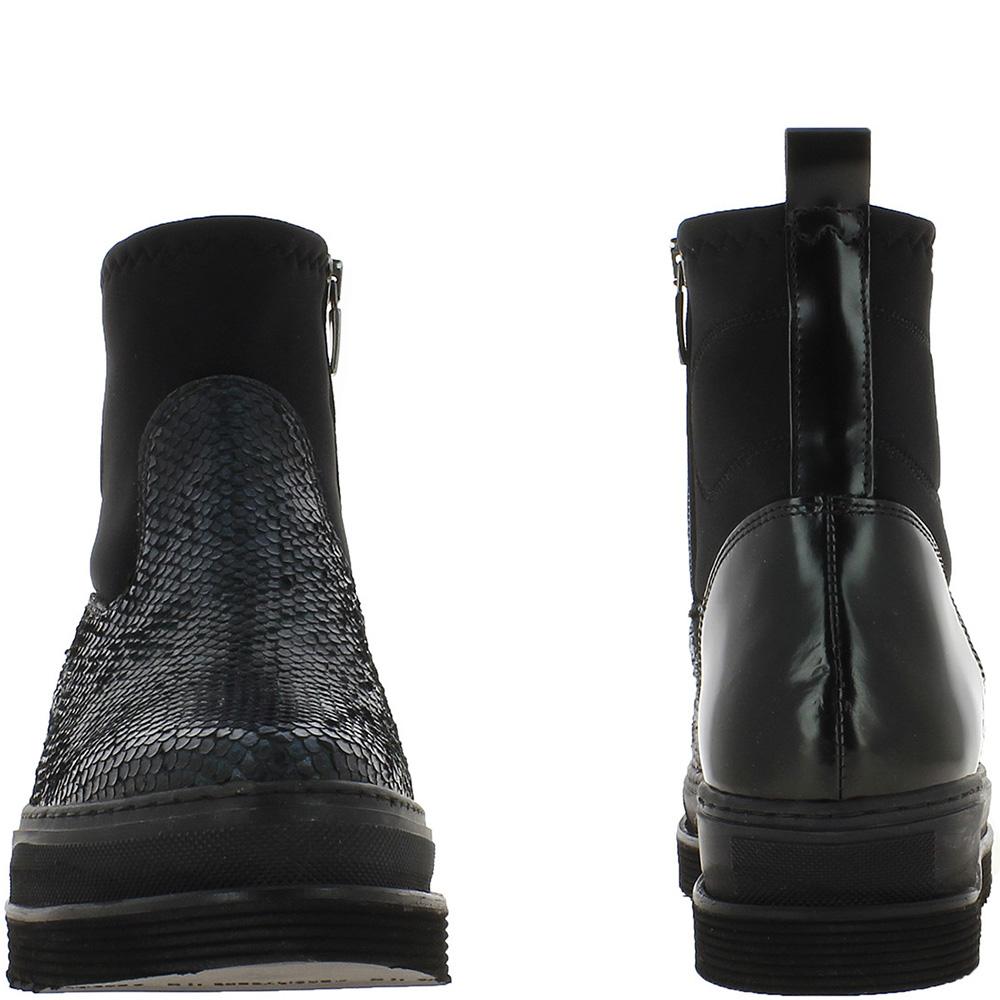Ботинки Laura Bellariva со змеиным принтом