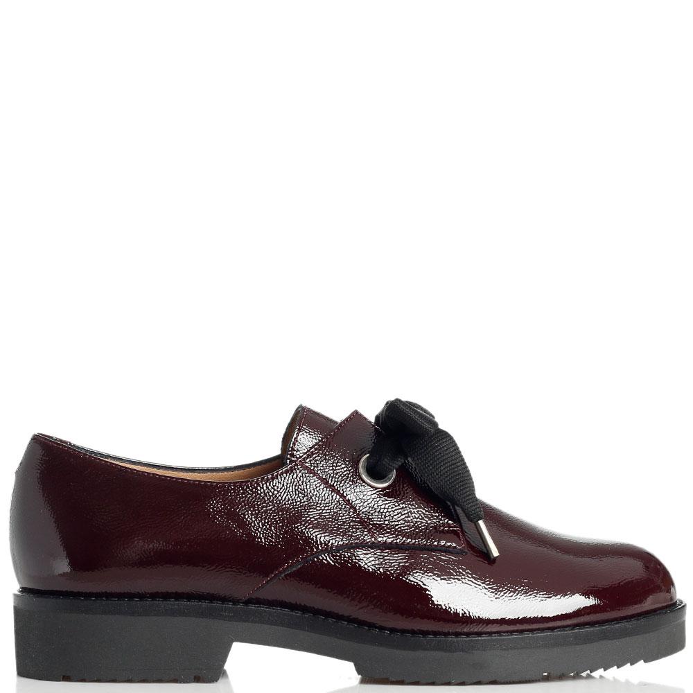 Лаковые туфли Mot-Cle бордового цвета
