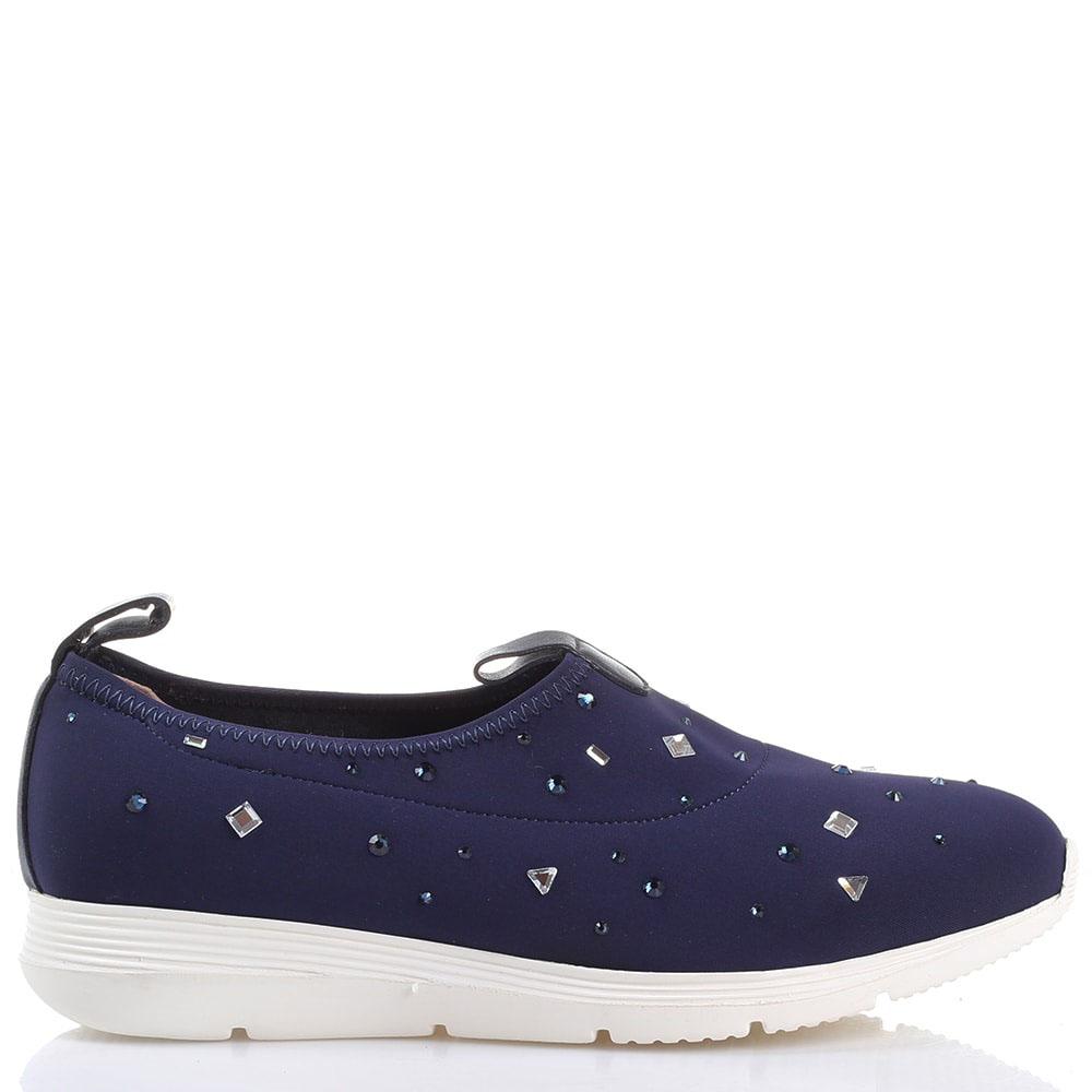 Текстильные кроссовки без шнуровки Redwood синего цвета