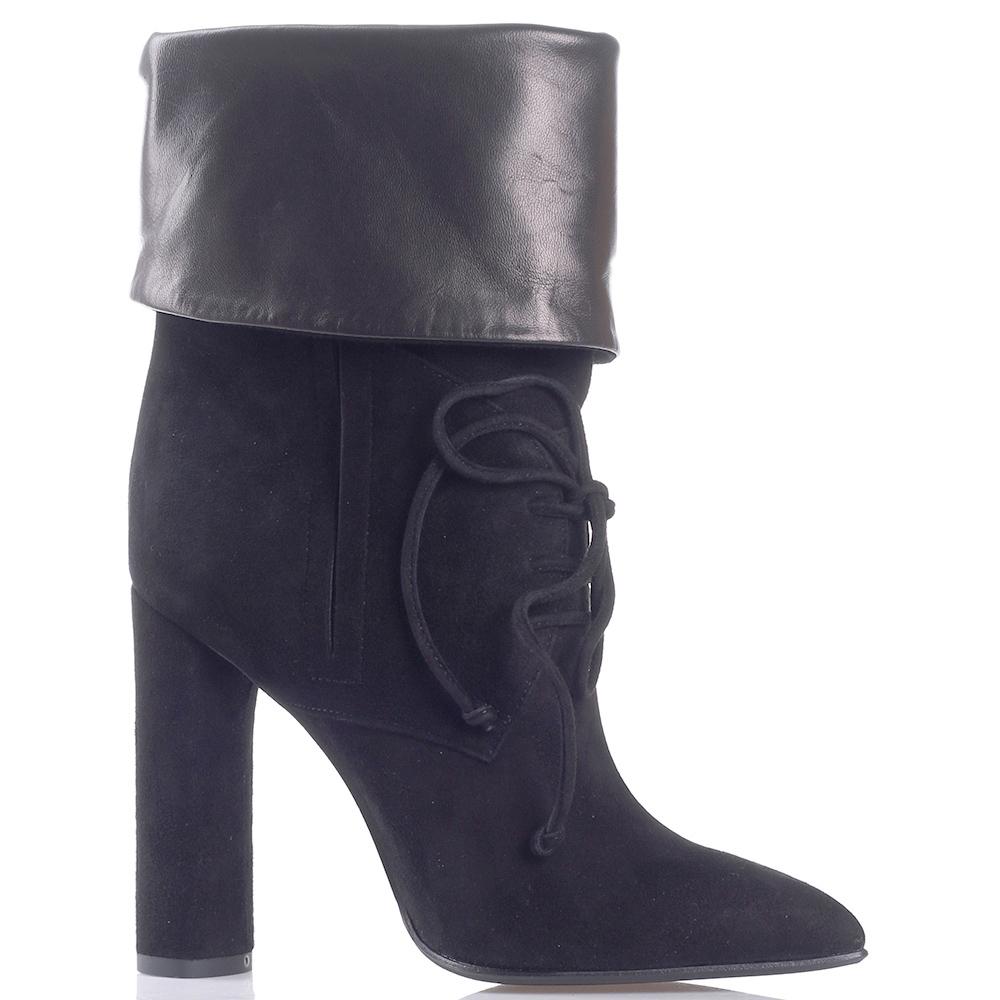 Замшевые сапоги Gianni Famoso на шнуровке
