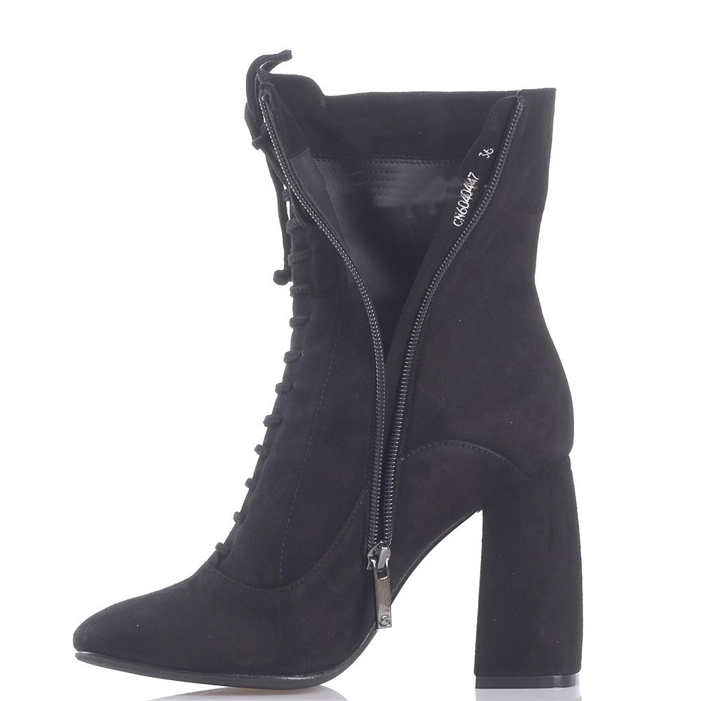 Черные сапоги Gianni Famoso с декором-шнуровкой