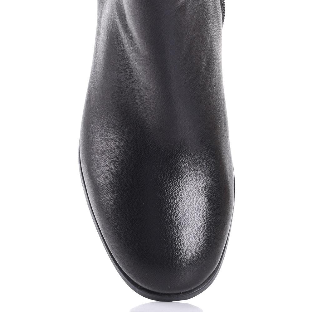 Ботфорты Gianni Famoso из гладкой кожи черного цвета