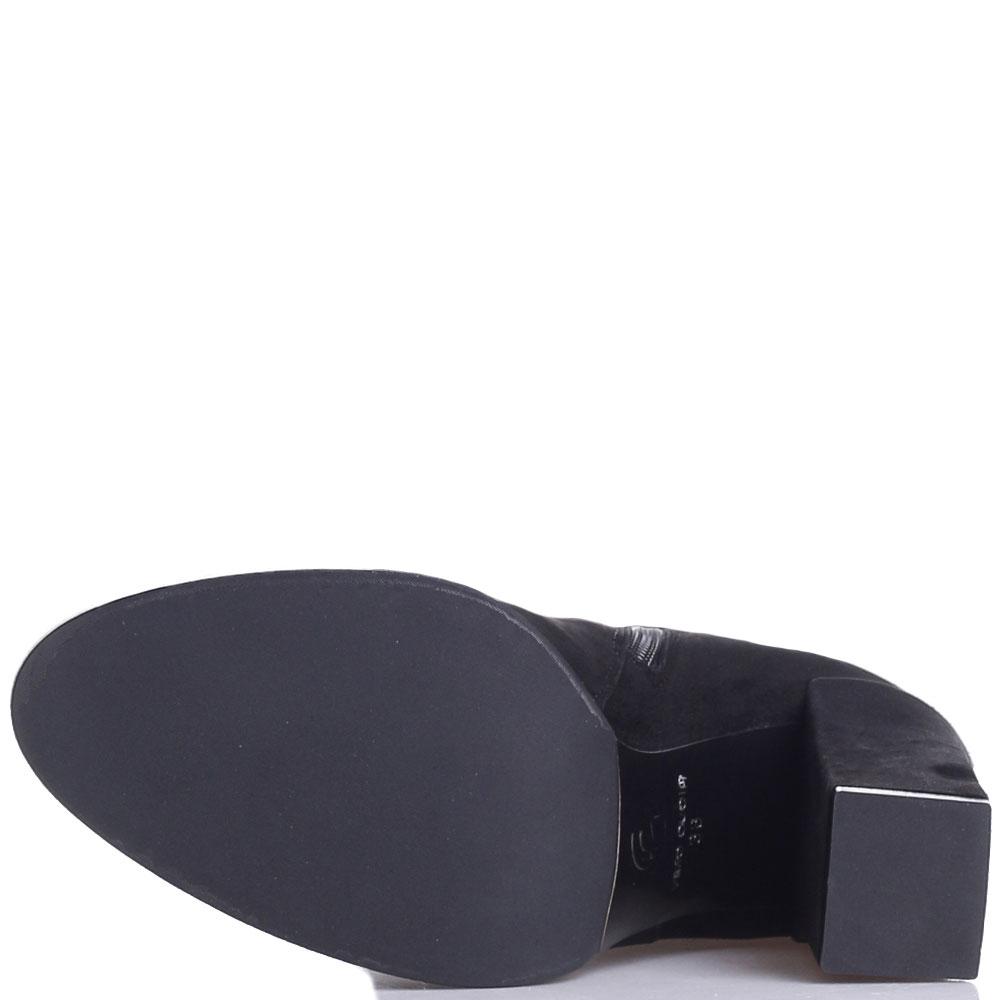 Замшевые ботфорты Gianni Famoso на высоком каблуке