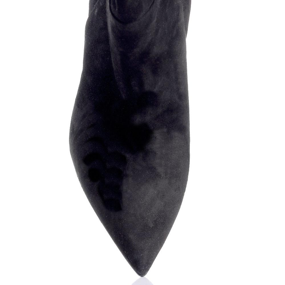 Черные сапоги Gianni Famoso с широким голенищем