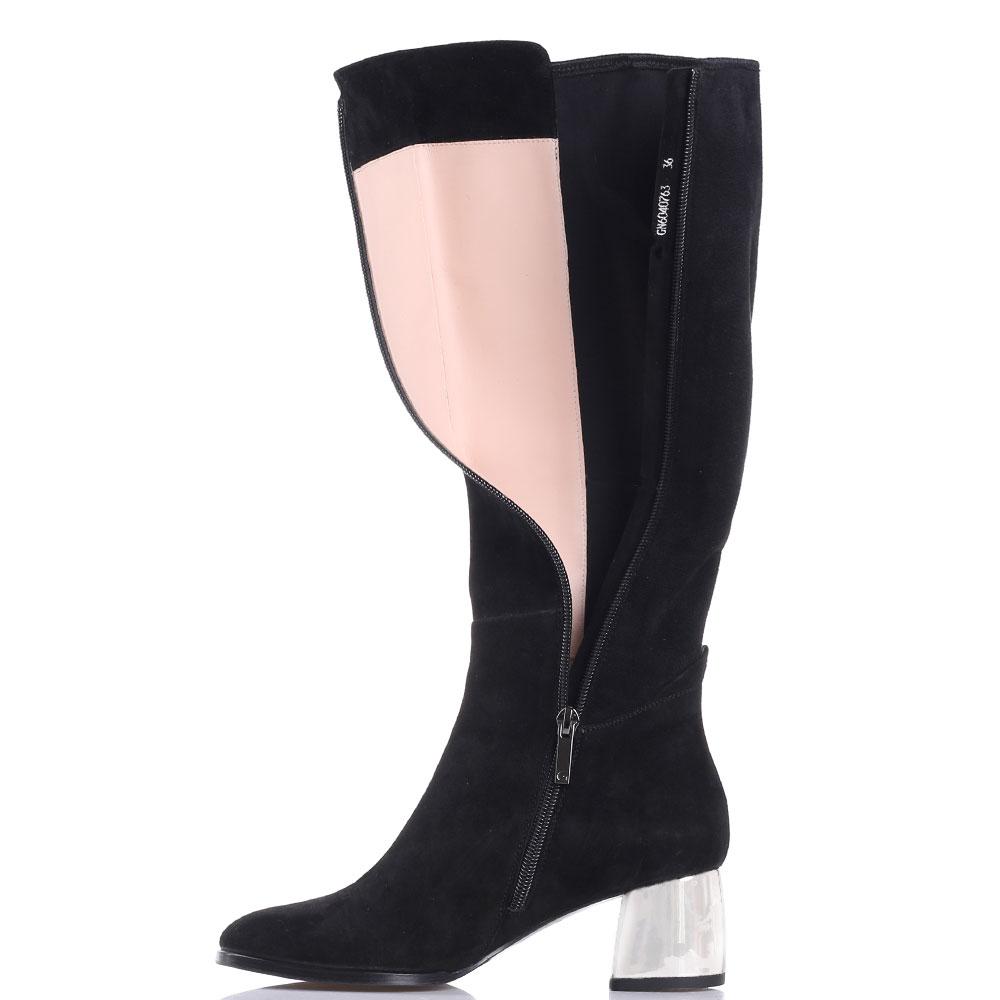 Сапоги с закругленным носочком Gianni Famoso черного цвета