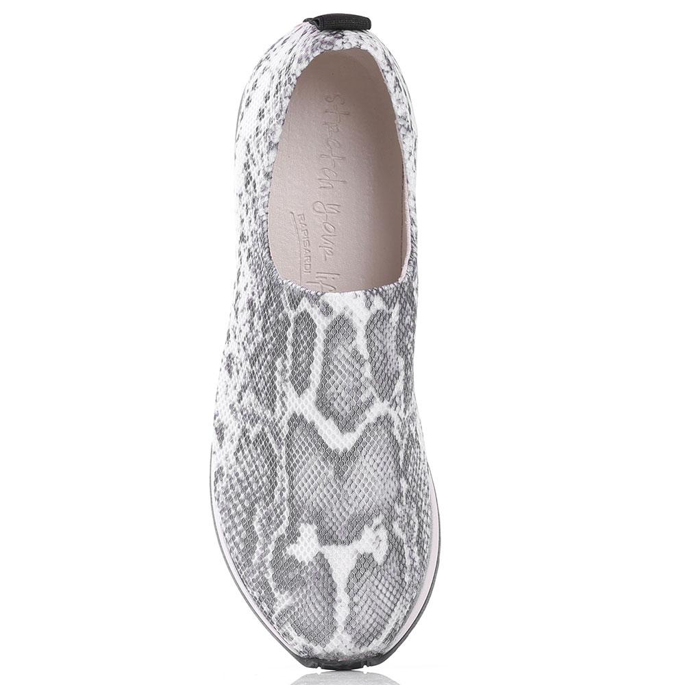 Кроссовки без шнуровки Nr Rapisardi с животным принтом