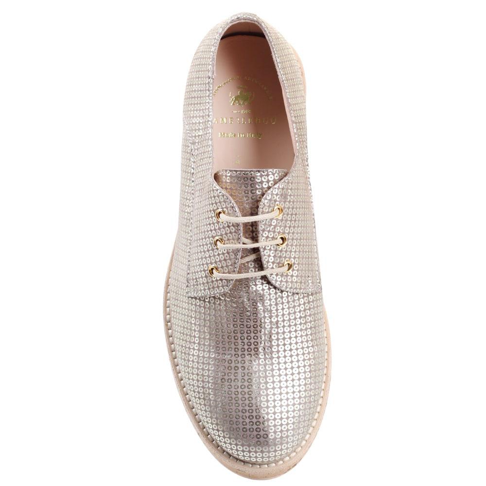 Туфли на толстой подошве Redwood золотистого цвета