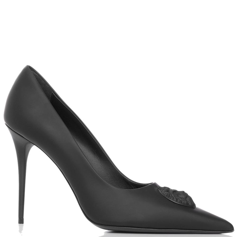 Черные туфли Versus Versace на шпильке