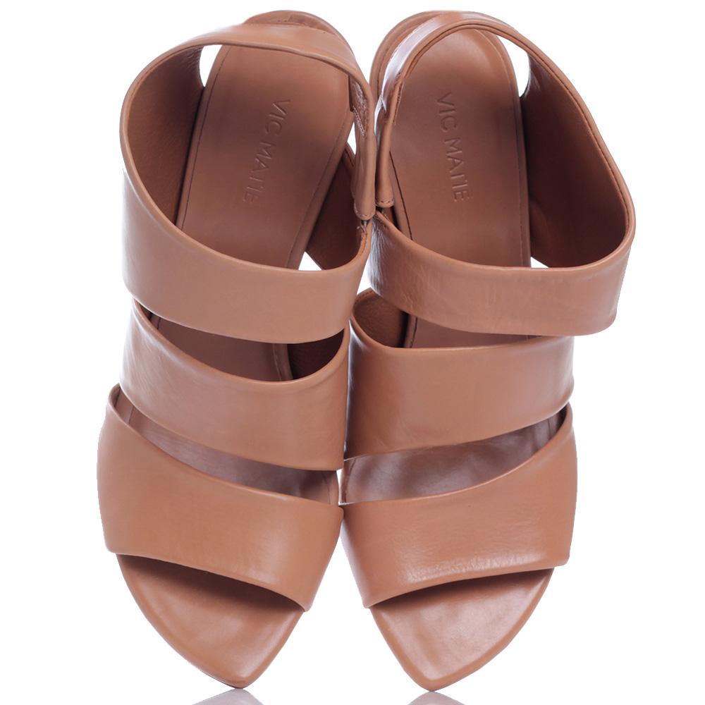 Босоножки Vic Matie светло-коричневого цвета