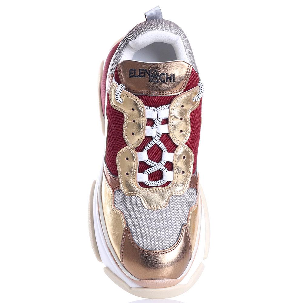 Кроссовки Elena Iachi золотистого цвета