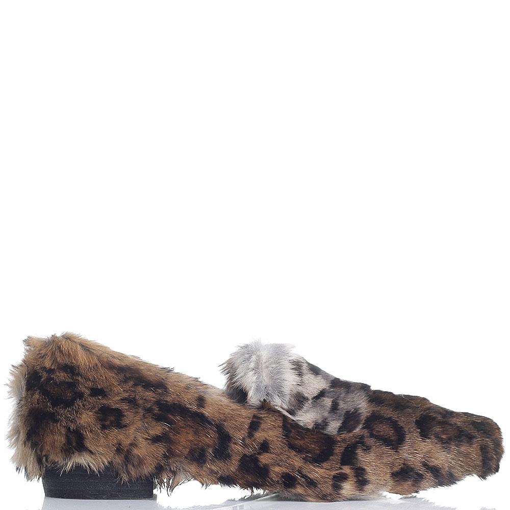 Туфли на низком каблуке Strategia леопардового цвета