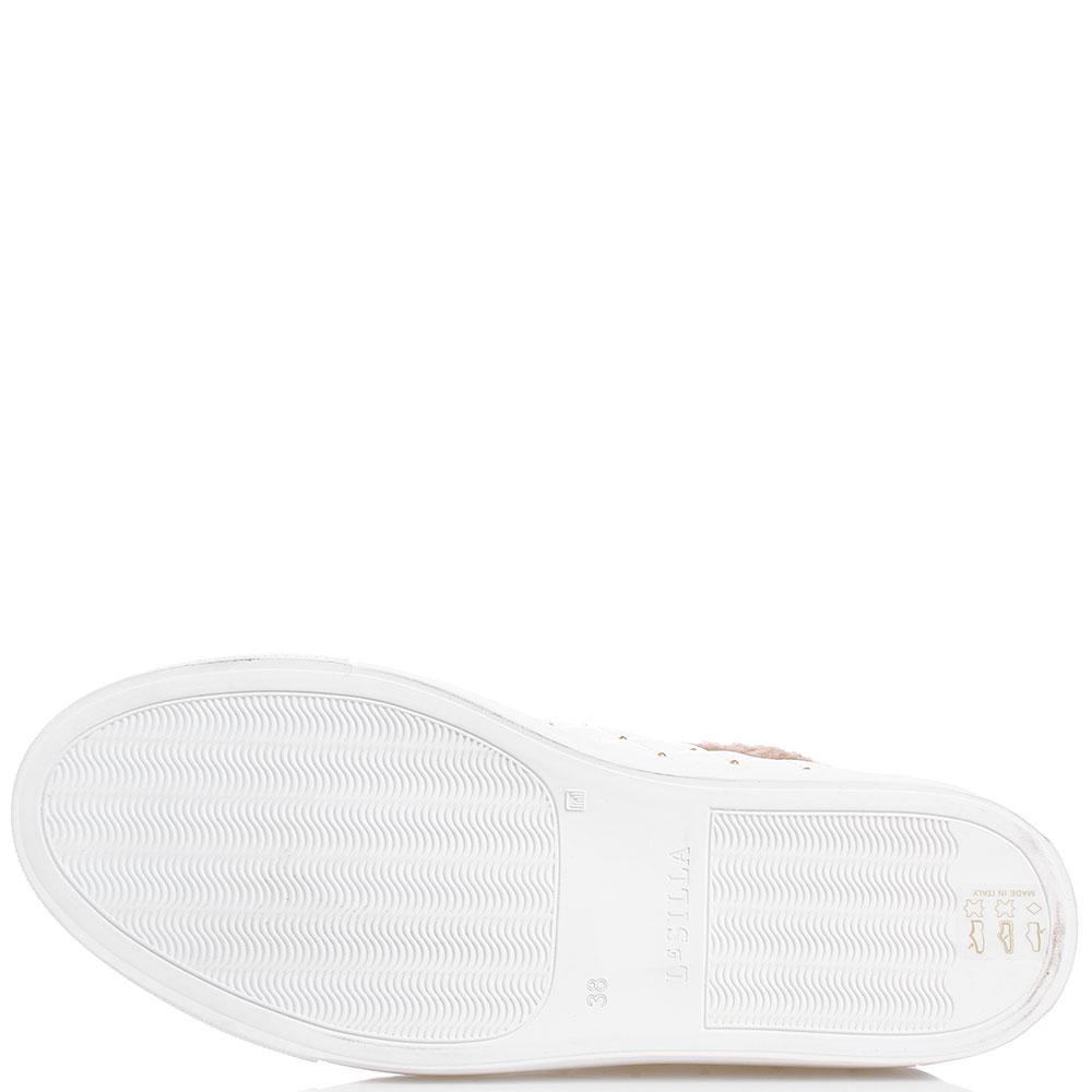 Кеды белого цвета Le Silla из стеганной кожи